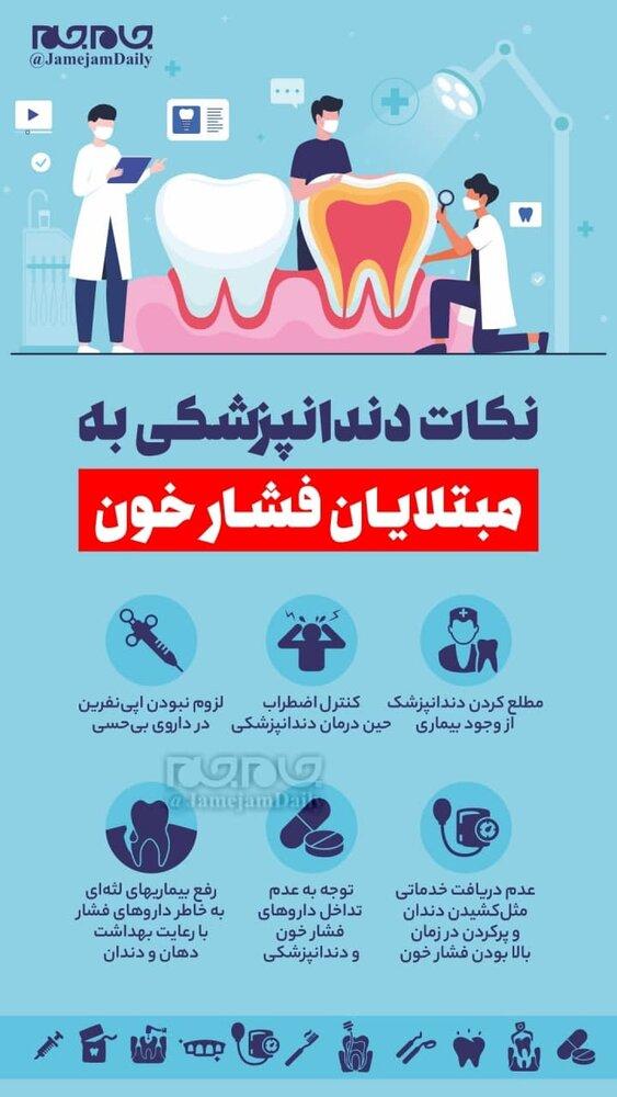 ببینید | نکات دندانپزشکی به مبتلایان فشار خون