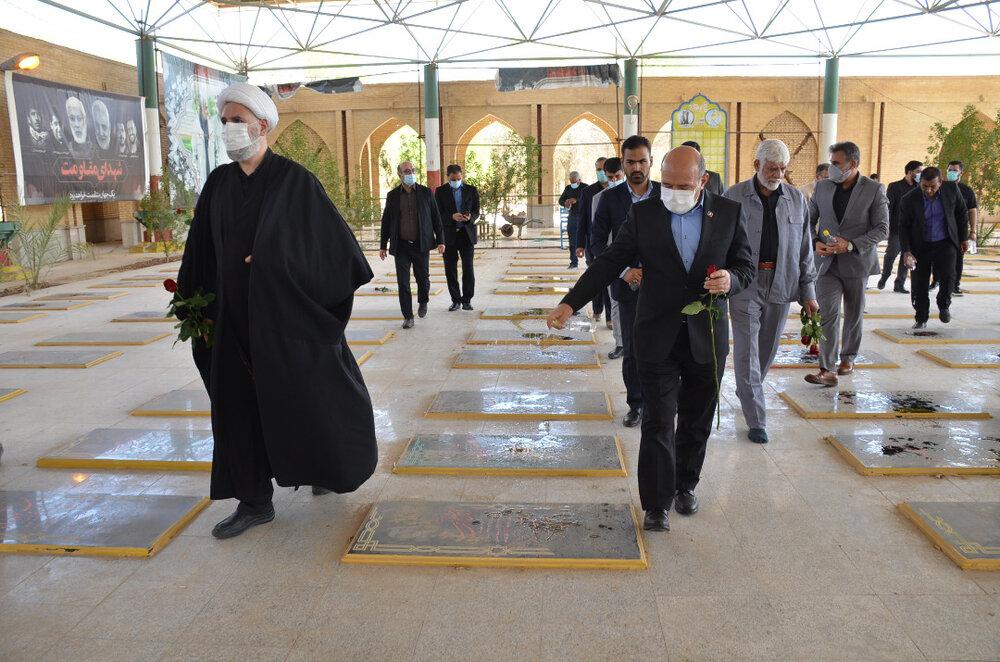 فرمانده قرارگاه حضرت زینب در سفر به منطقه آزاد اروند