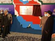 افتتاح نمایشگاه دائمی در لباس سربازی با حضور رئیسی