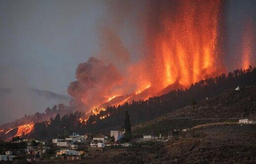 تصاویر | نبرد آتش و آب در جزایر قناری