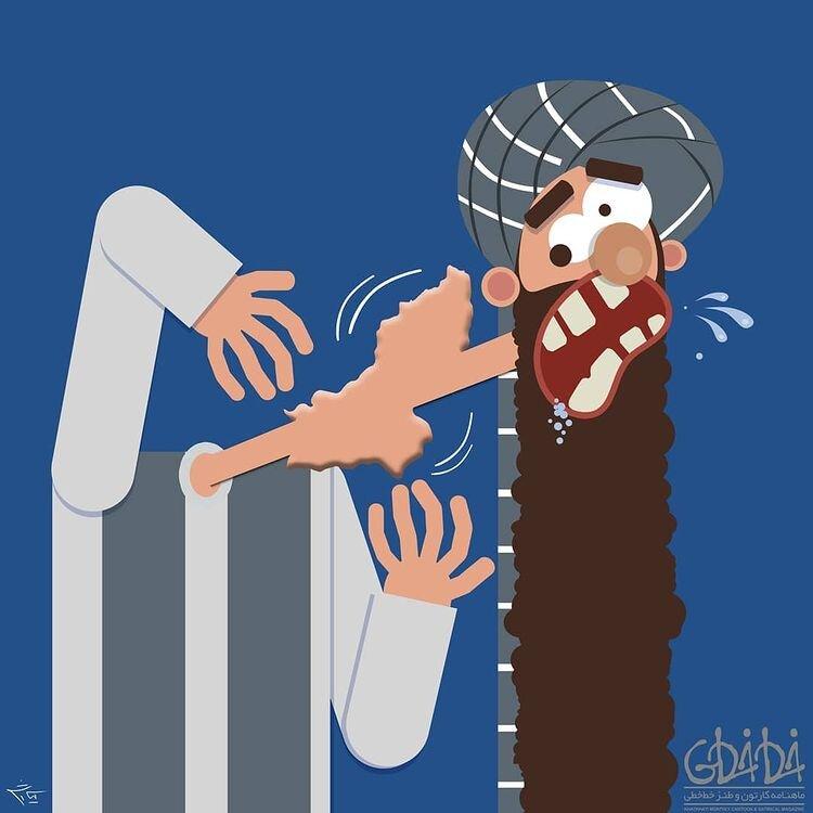 ببینید این لقمه تو گلوی طالبان گیر کرده!
