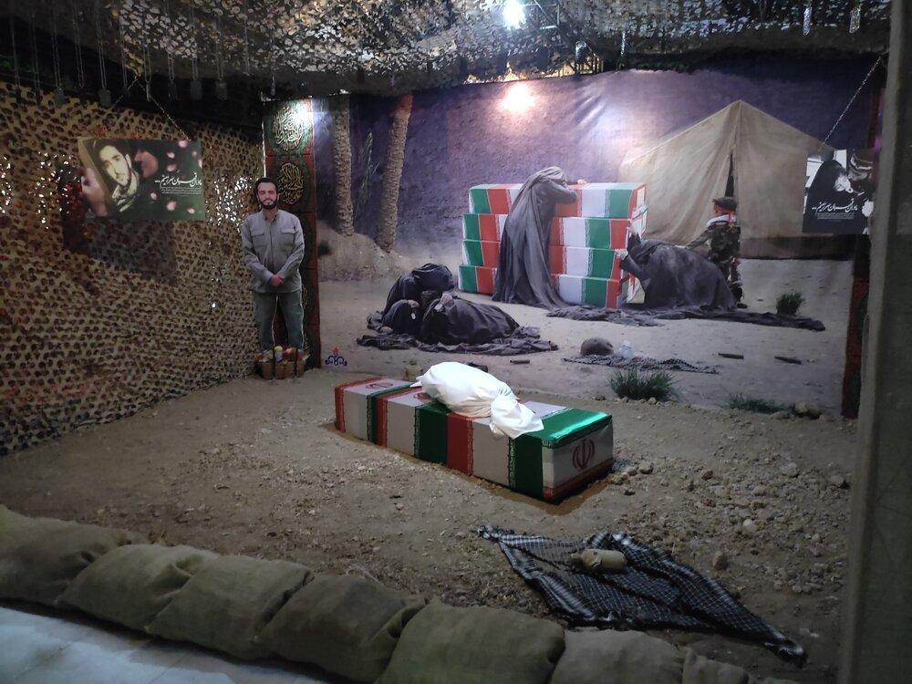 نمایشگاه لباس سربازی در فرهنگسرای نفت آبادان