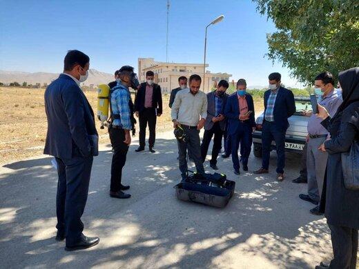 برگزاری مانور ارتقای حفاظت از تاسیسات آب در چهارمحال و بختیاری