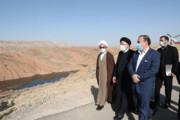تصاویر | بازدید سید ابراهیم  رئیسی از روند تکمیل سد مخزنی کنجانچم ایلام