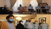 دیدار فرمانده نیروی هوایی ارتش با خانوادههای شهیدان ستاری و اقبالی دوگاهه