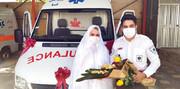 ازدواج در آمبولانس! / گفتوگو با پرستار اورژانس که عقدش در آمبولانس پربازدید شد