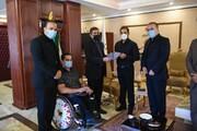 دیدار ورزشکاران و مدال آوران پارالمپیکی البرز با استاندار