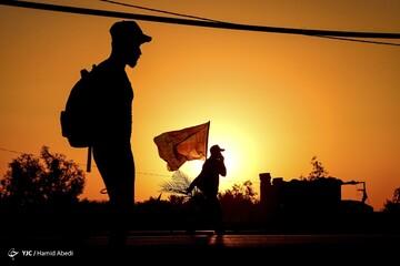 جاده یزد به تفت به خاطر پیادهروی اربعین بسته است