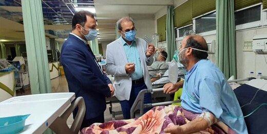 بازدید نماینده مردم کرج از بخش کرونایی مجتمع آموزشی درمانی امام علی(ع)