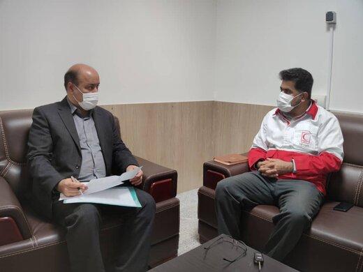 دیدار مدیر اجتماعی و سلامت سازمان منطقه آزاد قشم با رییس جمعیت هلالاحمر شهرستان