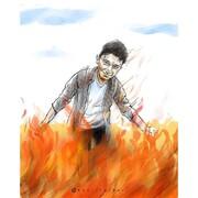 ببینید: لبخند علی لندی به آتش!