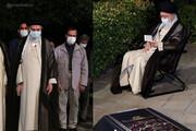 ببینید | تصاویری از اقامه نماز رهبر معظم انقلاب بر پیکر آیتالله حسنزاده آملی