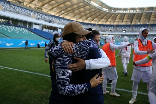 تصاویری زیبا از شادی غرور آفرین بانوان تیم ملی