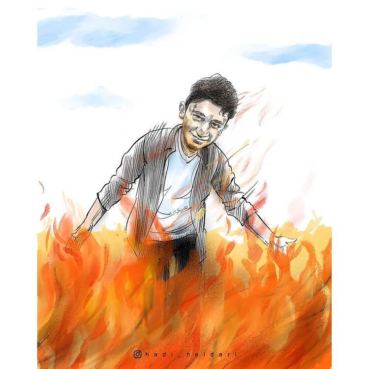 ببینید: ابراهیم در آتش!