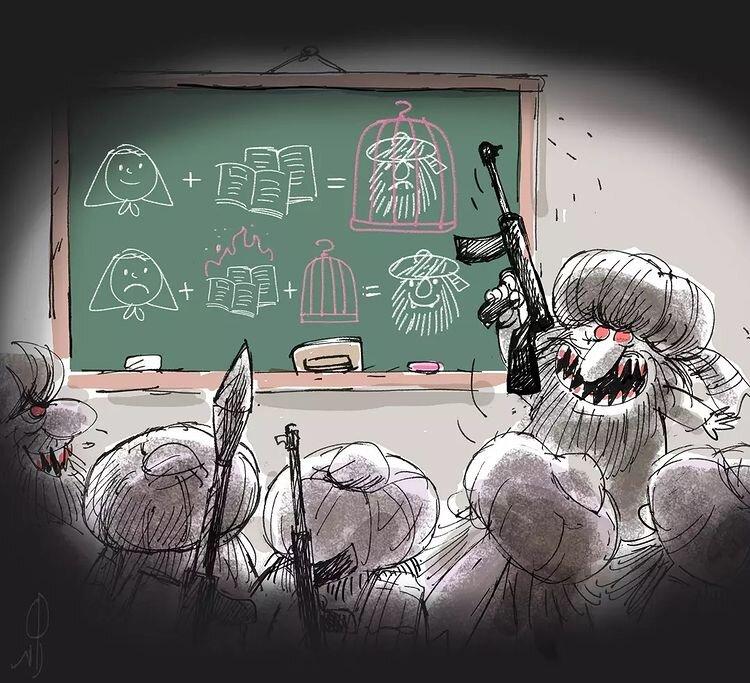 دلیل مخالفت طالبان با تحصیل دختران را ببینید!