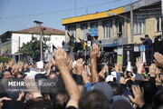 آغاز مراسم تشییع پیکر علامه حسنزاده آملی/ نجوای ای ابروی ایران خدانگهدارتان توسط مردم
