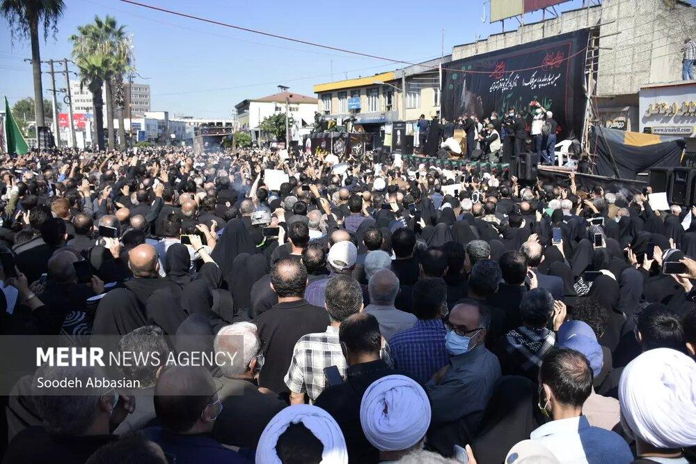 آغاز مراسم تشییع پیکر علامه حسنزاده آملی/ نجوای ای ابروی ایران خدانگهدارتان توسط مردم+ تصاویری از مراسم تشییع