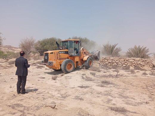 رفع تصرف ۳۶.۴هزارمترمربع اراضی خالصه دولتی به ارزش ۱۸۲.۲میلیارد ریال در روستای نقاشه قشم