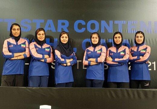 زنان پینگپنگباز ایران سهمیه جهانی گرفتند