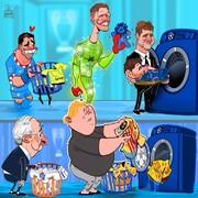 ببینید مسی و سوارز در صف خشکشویی!
