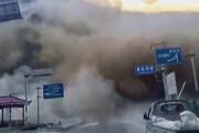 ببینید | رانش وحشتناک کوه و بسته شدن تونل در جنوب چین