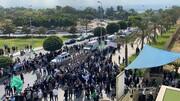 پخش زنده مراسم تشییع پیکر همسر امام موسی صدر هم اکنون از لبنان