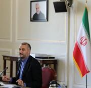 نشست اعضای مرکز مقاومت بسیج وزارت خارجه با امیرعبداللهیان/عکس