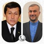 گفتگوی تلفنی وزیران خارجه ایران و ترکمنستان
