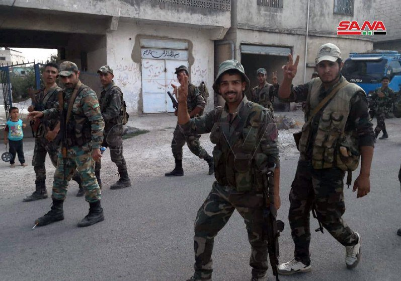 ارتش سوریه کنترل شهر نوی را پس از ۱۰ سال به دست گرفت