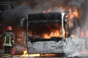 ببینید | سوختن 30 دستگاه اتوبوس در آتش در ایتالیا