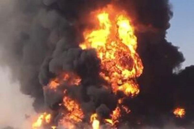 آتشسوزی گمرک دوغارون در حال مهار است