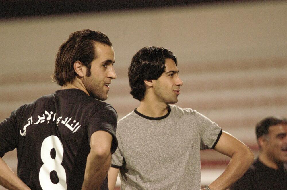 علی کریمی و فرهاد مجیدی در دبی/عکس
