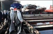بازدید رییس جمهور از روند ساخت شناورهای نظامی و تجاری در بوشهر