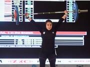 مدال برنز تاریخی برای دختر وزنهبردار ایران