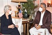 شرمن با رئیس ستاد ارتش پاکستان دیدار کرد
