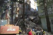 ببینید | لحظه وحشتناک فروریختن ساختمانی در گرجستان