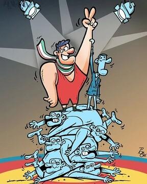 ببینید کشتی گیران ایرانی با حریفان چه کردند!