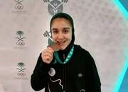 کار زیبای دختر 15 ساله ایرانی که مدال جهانی گرفت /عکس