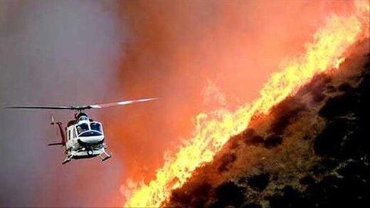استقرار تیم عملیات اطفای حریق هوایی وزارت دفاع در گچساران