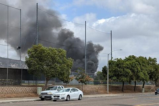 ببینید | لحظه هولناک و مرگبار سقوط هواپیما در سندیگو آمریکا