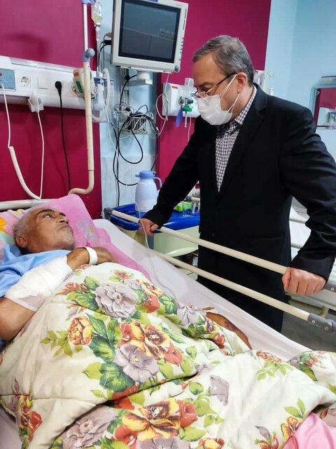 آخرین رقیب تختی در بیمارستان بستری شد/عکس