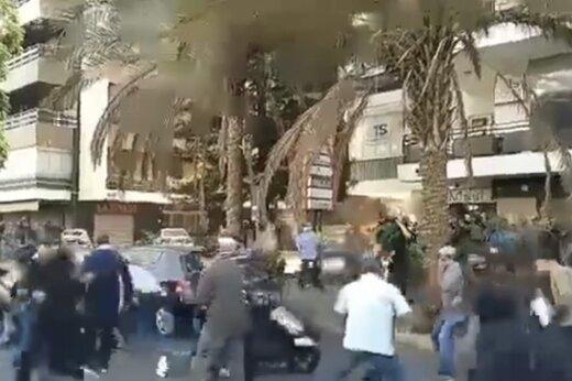 ببینید | ناآرامی در بیروت؛ تیراندازی هولناک به معترضان لبنانی