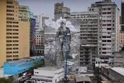 یک نقاشیِ عجیبِ دیواری/ عکس