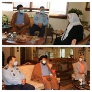 تجلیل فرمانده نیروی هوایی ارتش از خانواده وزیر دفاع شهید رجایی