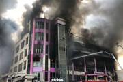 ببینید | مرکز تجاری باکو در آتش سوخت