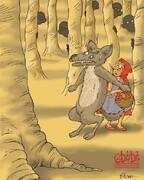 ببینید شنل قرمزی به گرگ جنگل پناه آورد!
