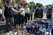 تصاویر | کشف تفنگ، چاقو و انبر از جیب بزهکاران در تهران