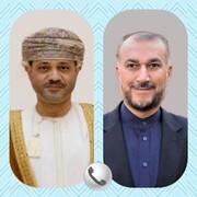 گفتگوی تلفنی وزیران خارجه ایران و عمان