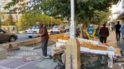 ببینید | نماز خواندن کاسب اهل سنت در خیابان ولیعصر