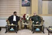 دیدار دبیر شورایعالی مناطق آزاد با  فرمانده سپاه قدس گیلان